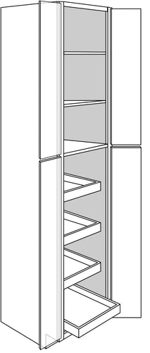 TRENTON TALL CABINETS WITH ROLLOUTS: 24