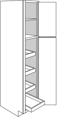 DOVER TALL CABINETS WITH ROLLOUTS: 18