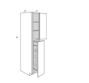 PLYMOUTH TALL CABINETS WITH PULL OUT: Width: 18 | Height: 96 | Depth: 24