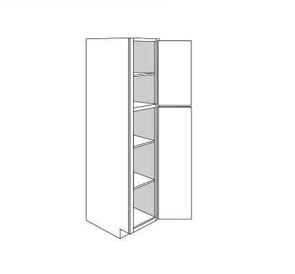 KINGSTON TALL PANTRY CABINET 2 DOOR : Width: 18 | Height: 84 | Depth: 24