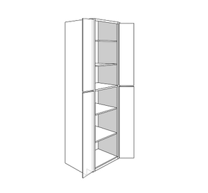 PLYMOUTH TALL PANTRY CABINET 4 DOOR : Width: 30 | Height: 96 | Depth: 24