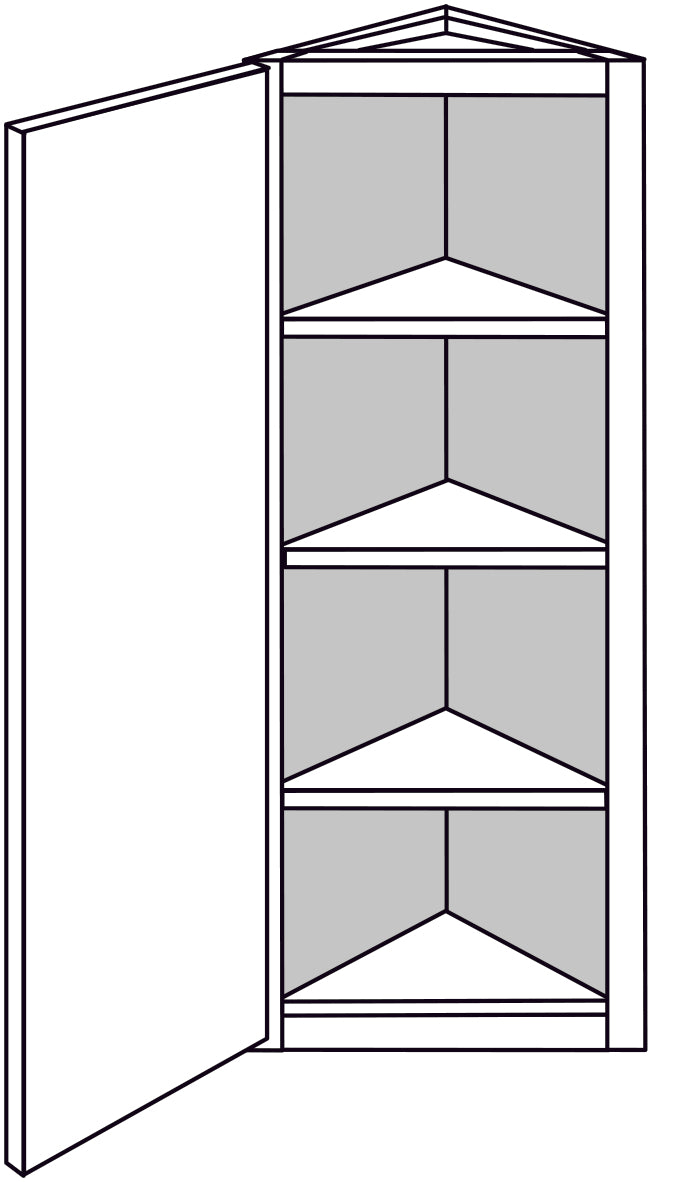 PLYMOUTH WALL ANGLE END CABINET: 12IN. D WALL 1 DOOR  Width: 12 | Height: 42 | Depth: 12