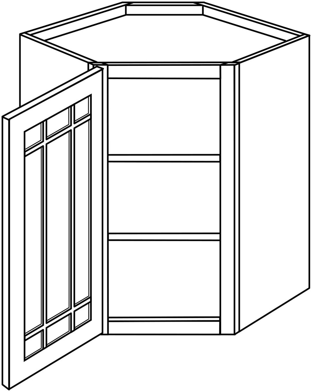 DOVER WALL CABINETS WITH GLASS DOORS: 30