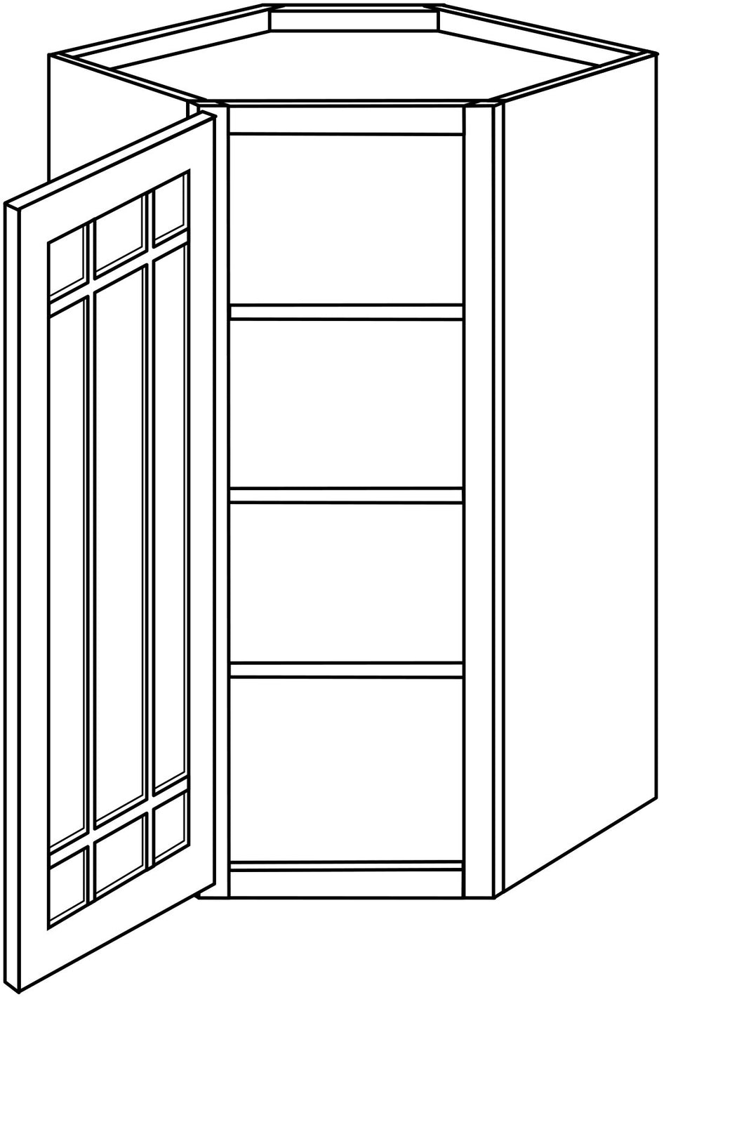 DOVER WALL CABINETS WITH GLASS DOORS: 42