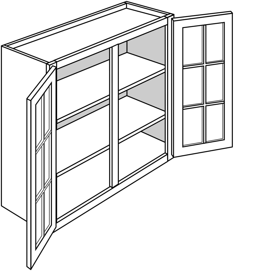 TRENTON WALL CABINETS WITH GLASS DOORS: 30
