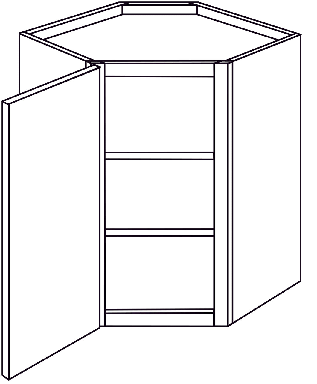 PLYMOUTH WALL CORNER CABINETS: 30