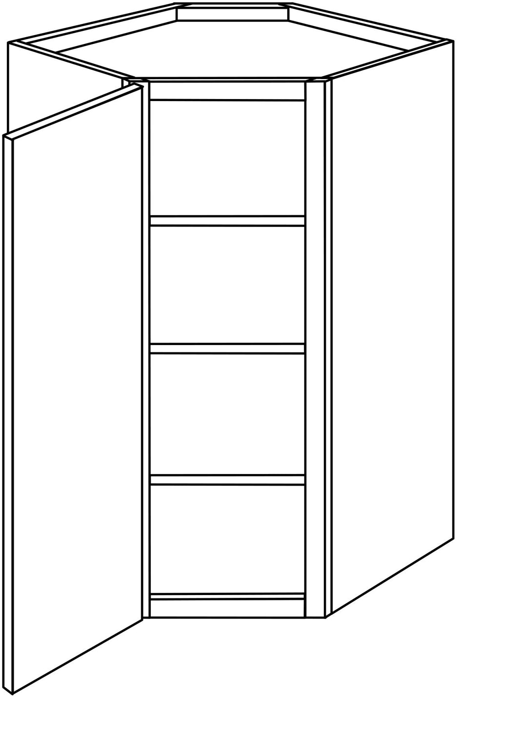 DOVER WALL CORNER CABINETS: 42