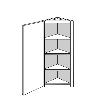 GEORGETOWN WALL ANGLE END CABINET: Width: 12 | Height: 42 | Depth: 12