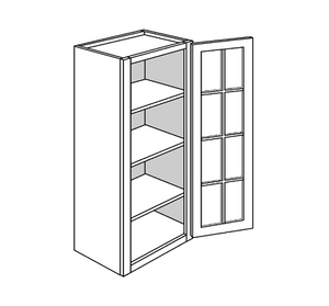 PLYMOUTH WALL CABINETS 42IN. H WALL 1 GLASS DOOR Width: 18