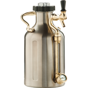 GrowlerWerks 64oz Pressurized Stainless Steel Growler