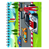 Race Car Driver Spiral Notebooks