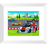 Race Car Driver Framed Prints