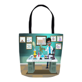 Scientist Boy Tote Bags