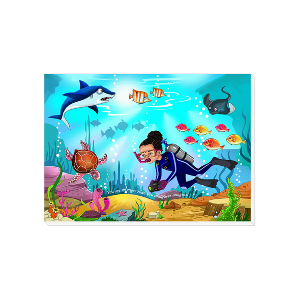 Marine Biologist Canvas Wraps