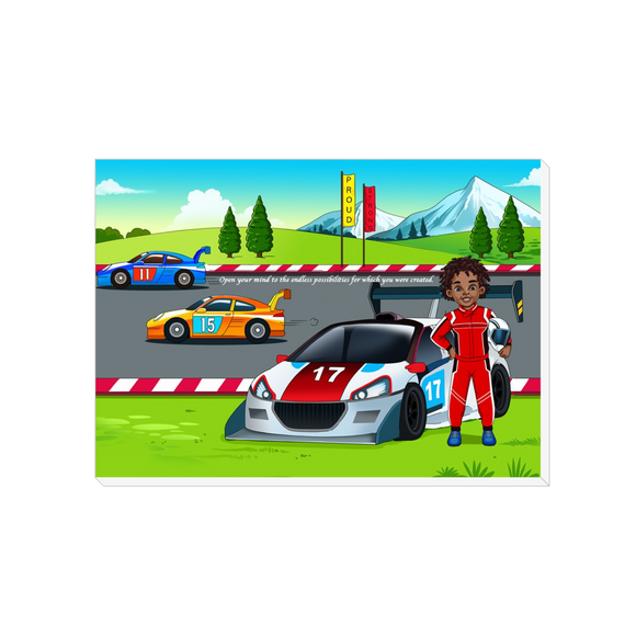 Race Car Driver Canvas Wraps
