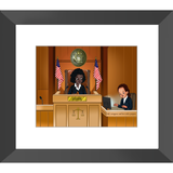Judge Framed Prints