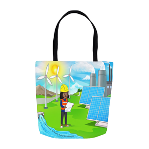 Renewable Energy Girl Tote Bags
