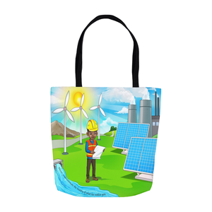 Renewable Engineer Boy Tote Bags