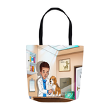 Veterinarian Boy Tote Bags