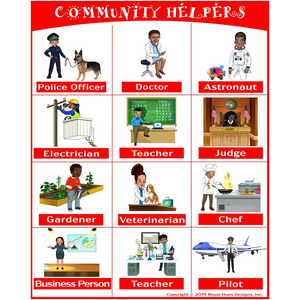 Community Helpers Canvas Posters