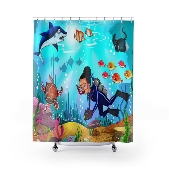 Marine Biologist Girl Shower Curtains