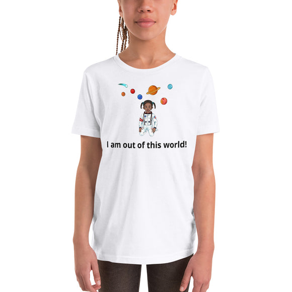 Youth Girl Astronaut Short Sleeve T-Shirt