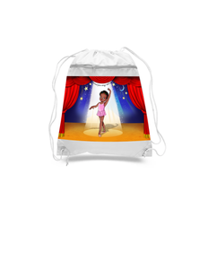 Ballet Dancer Drawstring bags