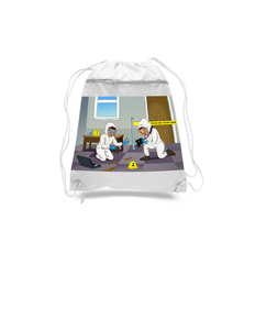 Forensic Scientist Drawstring Bags