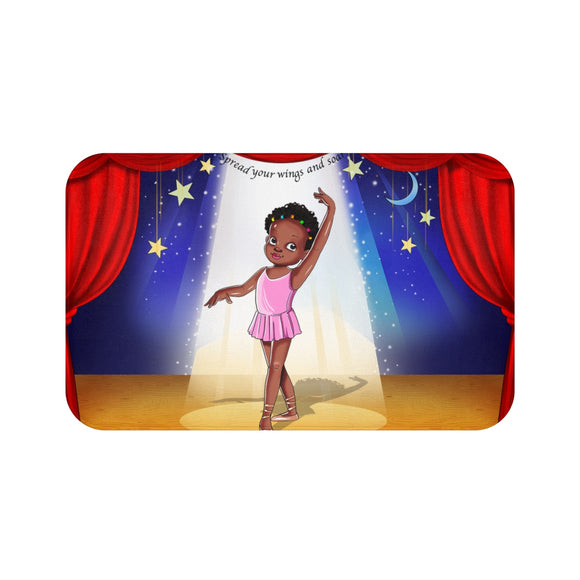 Ballerina Girl Bath Mat
