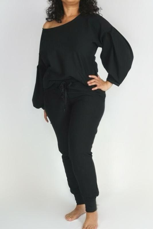 LOGO By Braazi Collection Off-The-Shoulder Sweatshirt