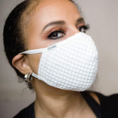 Black and White Lace Face Mask Lined With 100% Cotton Washable Reusable Filter Pocket