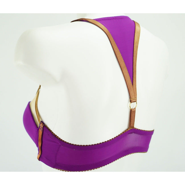 Bra - Tribal Julianna Lynn Bond | Purple Bra | Bronze Bondage Straps