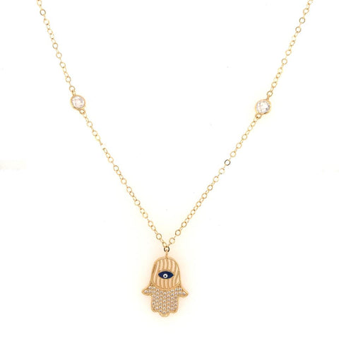 Chain with hamsa hand