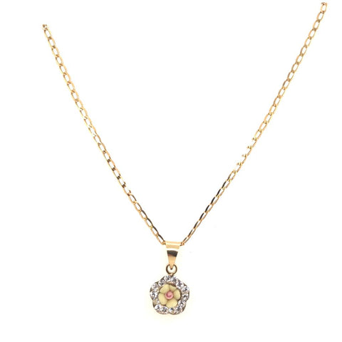 14kt Chain with Flower Pendant