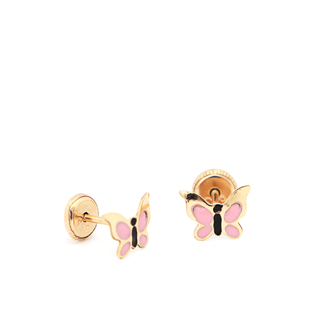 Women's Stud Earrings 14K Yellow Gold