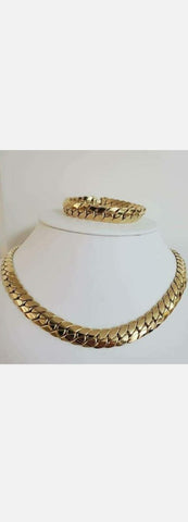 Italian chain and bracelet set