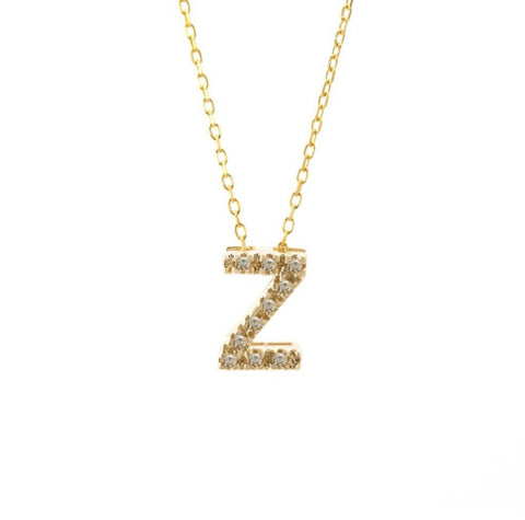 Z Initial Diamond Necklace