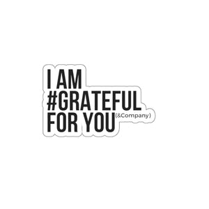 Cut Out #Grateful Stickers