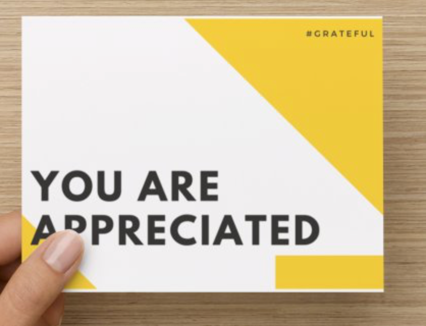 You Are Appreciated Gratitude Cards