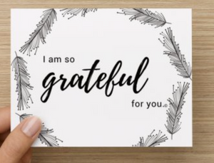 Grateful for You Gratitude Cards