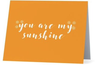 You Are My Sunshine Gratitude Cards
