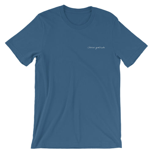 Embroidered Choose Gratitude T-shirt