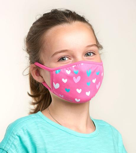 Hearts Kids Face Mask