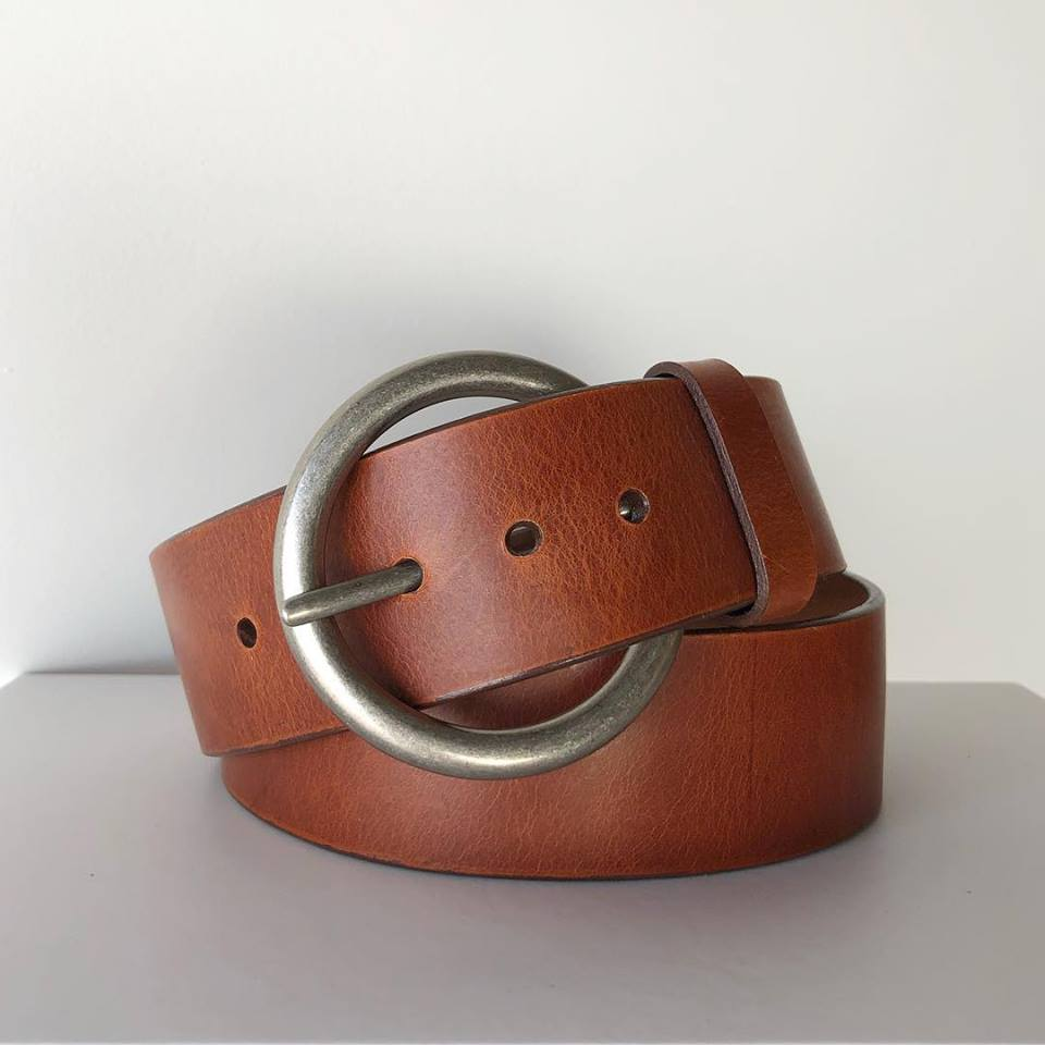 Brandy/Silver Vika Belt