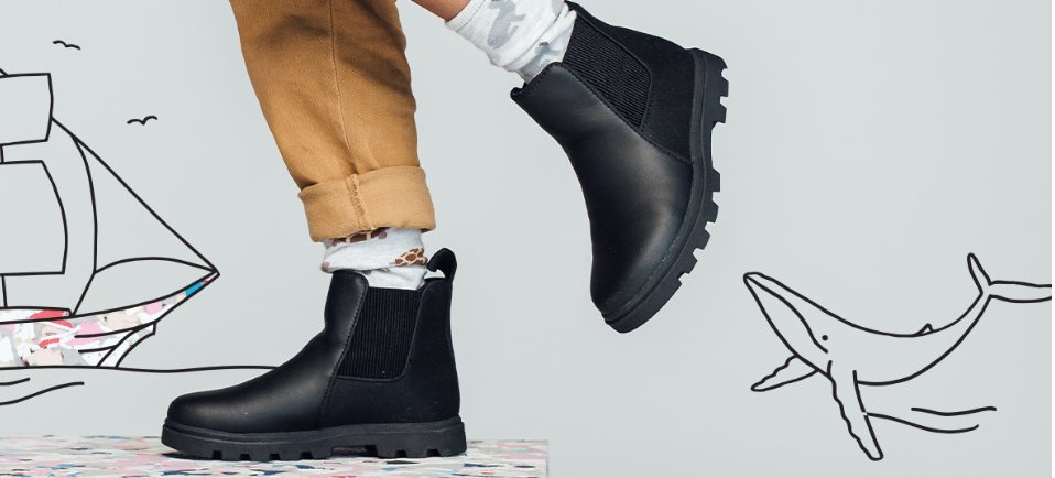 Jiffy Black Kensington Boot Junior
