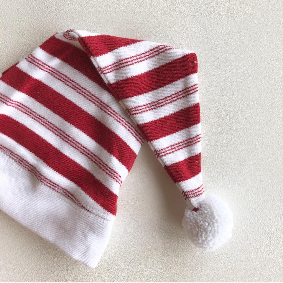 Peppermint Stripe Sleeper and Hat Set