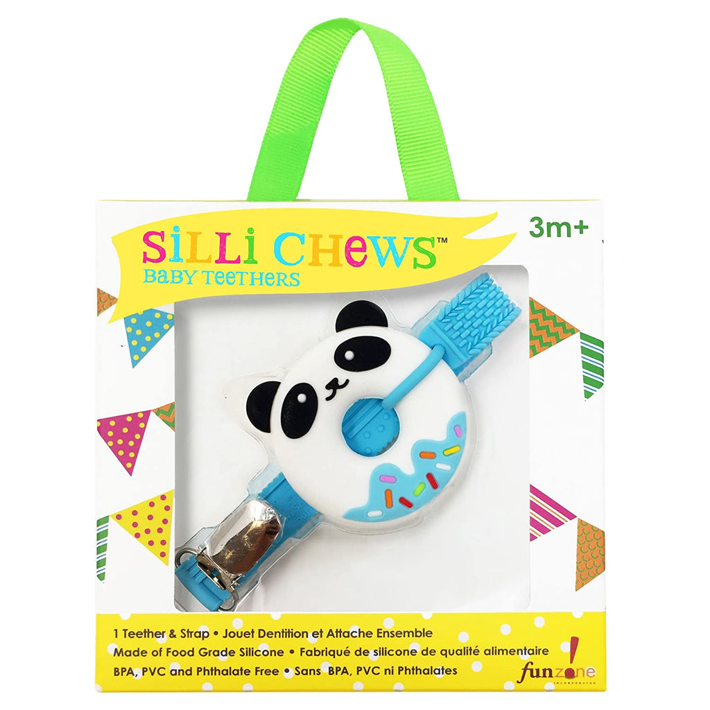 Blue Panda Teether & Strap