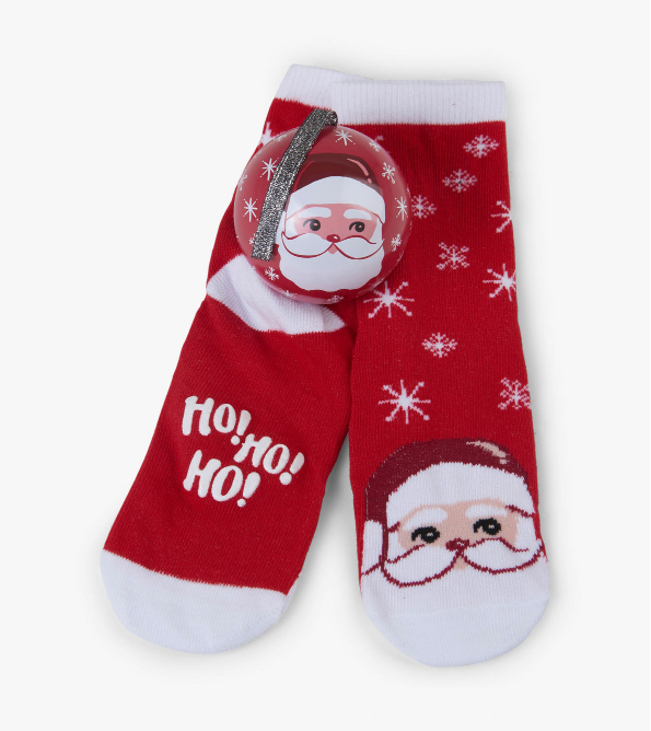 Kids Cheerful Claus Sock n' Ornament