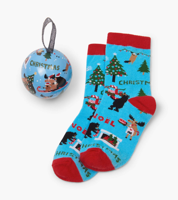 Kids Wild About Christmas Sock n' Ornament