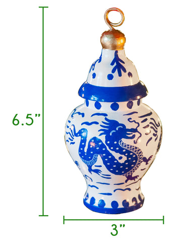 Ginger Jar Ornament Size Guide